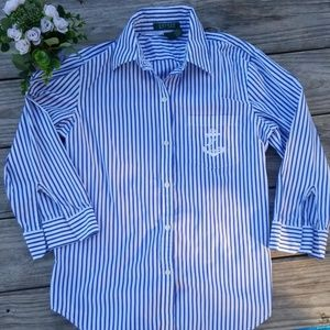 Ralph Lauren striped  button down  shirt.